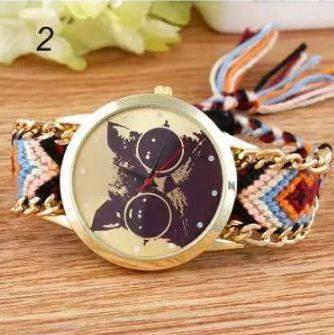 reloj gato cafe