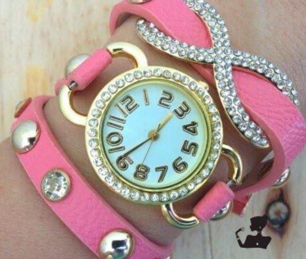 Reloj Pulsera Infinito rosado