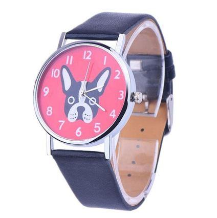 Reloj Perro cuero negro