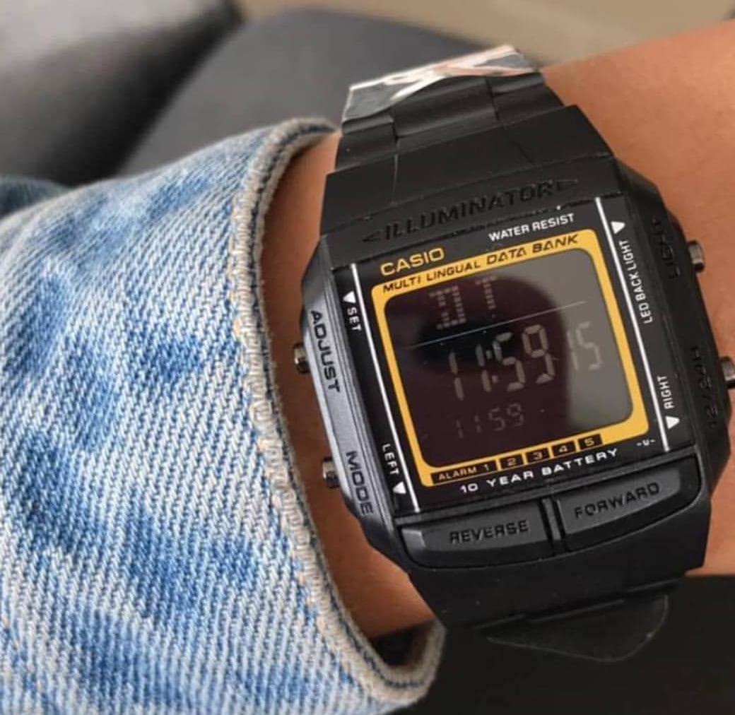 Unisex Negro Reloj Casio Reloj Retro AjqL3c4R5S