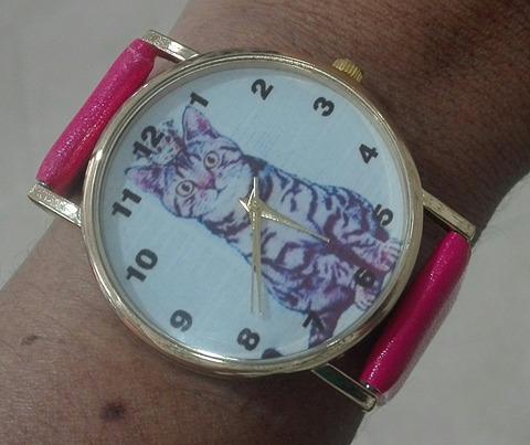 reloj mujer fucsia