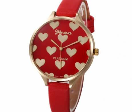 reloj mujer rojo