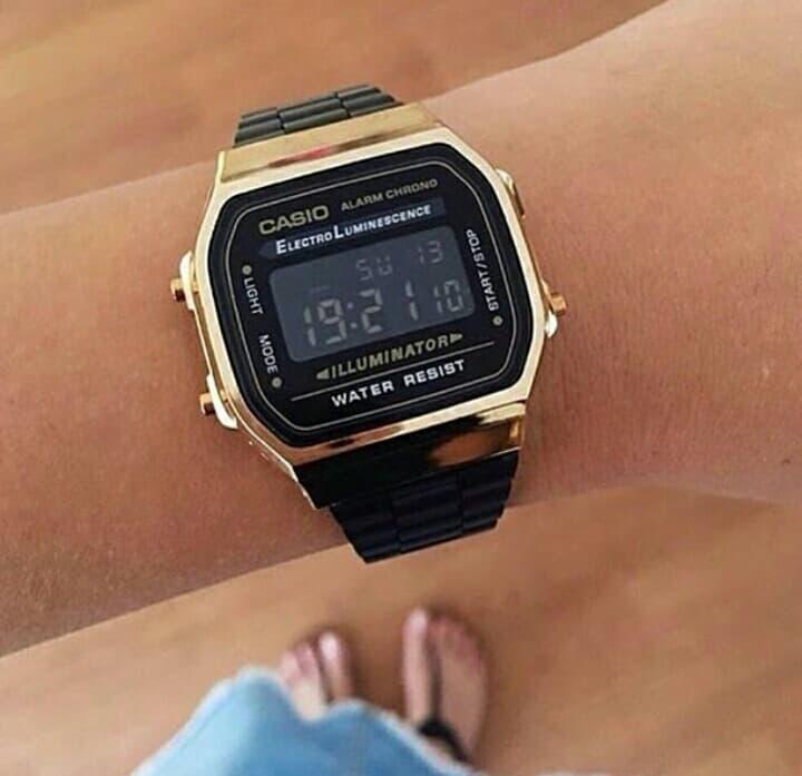 fotos oficiales b7785 dbd40 Reloj Casio Negro Con Dorado